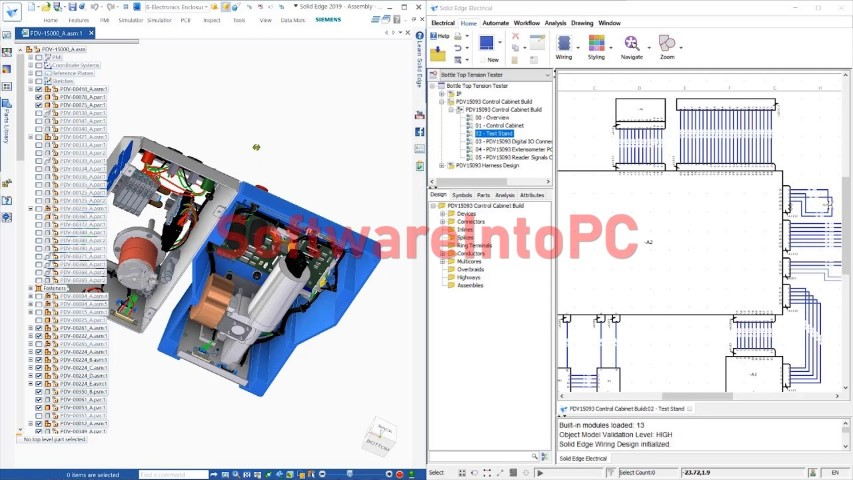 Siemens Solid Edge Electrical 2019 SP1 Free Download
