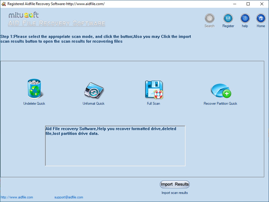 Aidfile Recovery Software 3.7.5.2 Crack